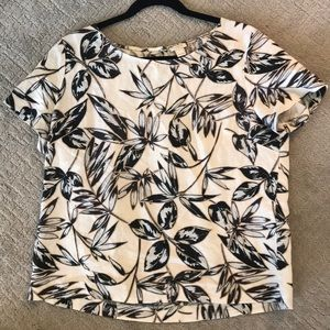 JCrew cool floral top